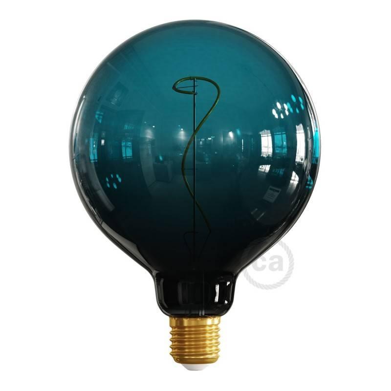 Bombilla LED Globo G125 Serie Pastel, Dusk, filamento laminado 4W E27 Regulable 2200K