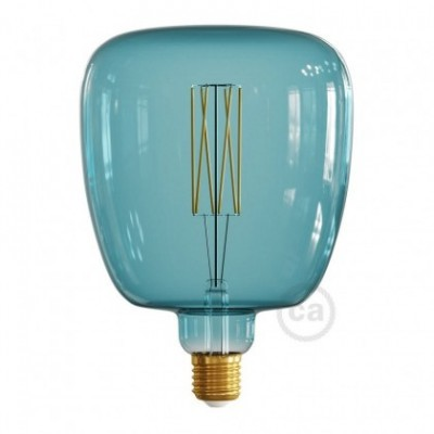 Bombilla LED XXL Bona Serie Pastel, Ocean Blue, filamento recto 4W E27 Regulable 2200K