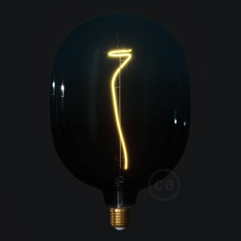 Bombilla LED XXL Egg Serie Pastel, Dusk filamento laminado 4W E27 Regulable 2200K
