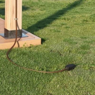 Caja de conexiones para guirnaldas con adaptador para cables redondos y planos