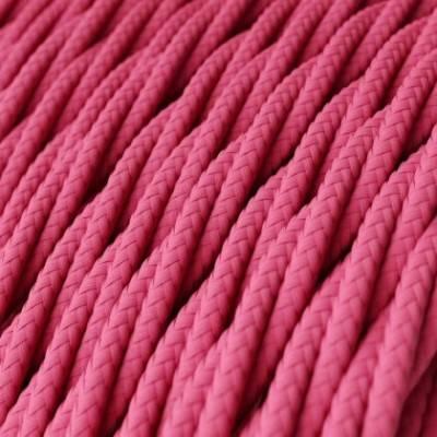 Cable Eléctrico Trenzado Recubierto en tejido Efecto Seda Color Sólido, Fuchsia TM08