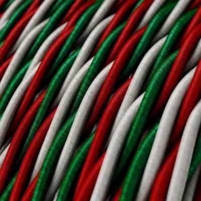 Cable Eléctrico Trenzado Recubierto en tejido Efecto Seda Italia