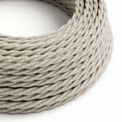 Cable Eléctrico Trenzado Recubierto en Lino Natural Neutro TN01