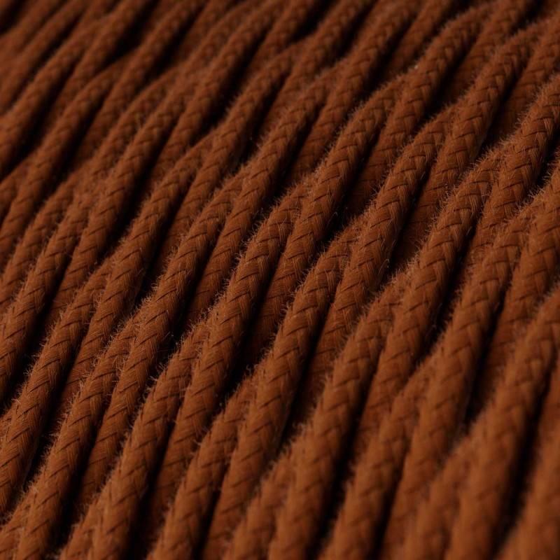 Cable Eléctrico Trenzado Recubierto en Algodón - Color Sólido, Ciervo TC23