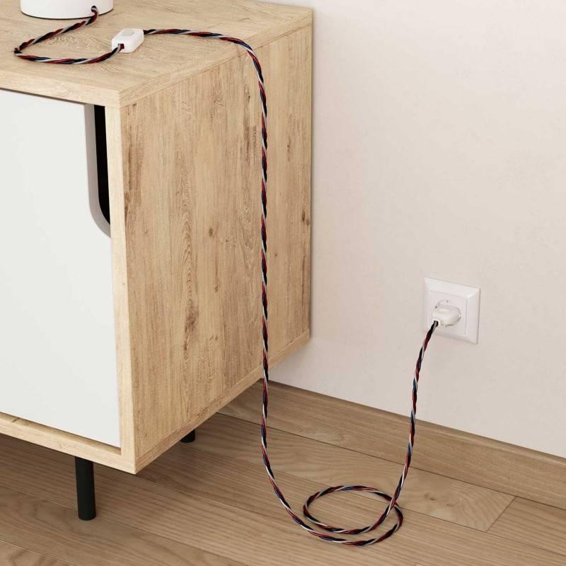 Cable Eléctrico Trenzado Recubierto en tejido Efecto Seda USA TZUSA