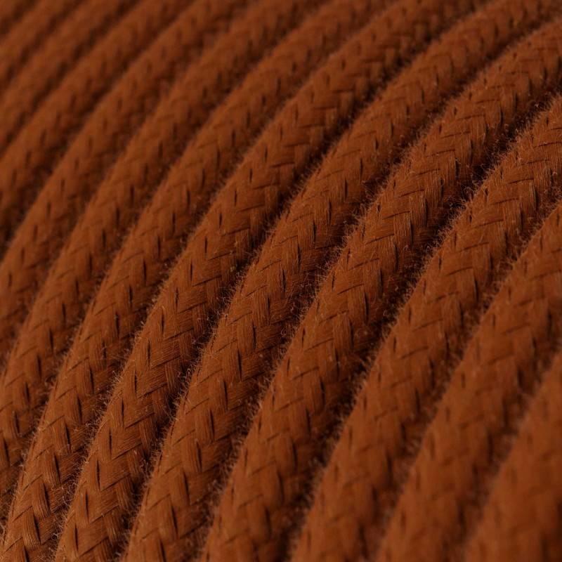 Cable Eléctrico Redondo Recubierto en Algodón Color Sólido Ciervo RC23