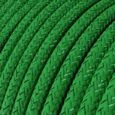 Cable Eléctrico Redondo Recubierto en tejido Efecto Seda Color Sólido, Verde Glitter RL06