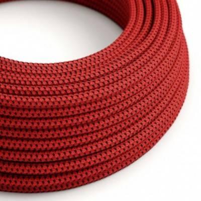 Cable Eléctrico Redondo Recubierto en tejido Efecto 3D en relieve Red Devil RT94