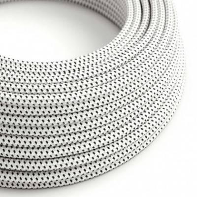 Cable eléctrico Redondo Recubierto en tejido Efecto 3D en relieve Stracciatella RT14