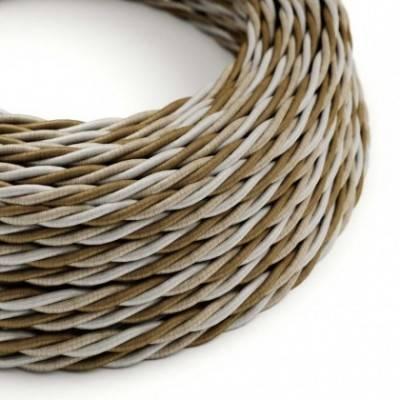 Cable Eléctrico Trenzado Recubierto en tejido Efecto Seda Windsor TG01