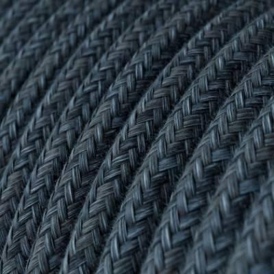 Cable Eléctrico Redondo Recubierto en Algodón Azul Mirage RX10