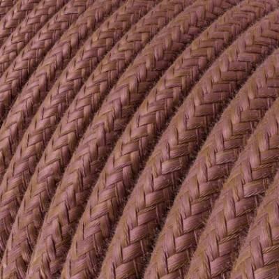Cable Eléctrico Redondo Recubierto en Algodón Marsala RX11