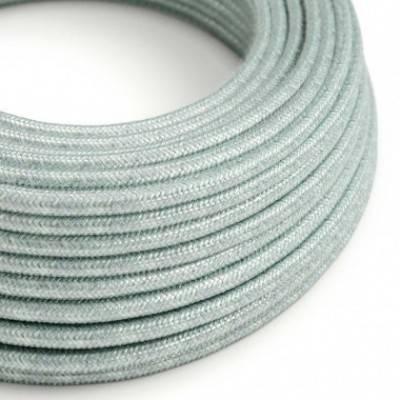 Cable Eléctrico Redondo Recubierto en Algodón Azul Calina RX12