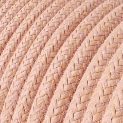 Cable Eléctrico Redondo Recubierto en Algodón Salmón RX13