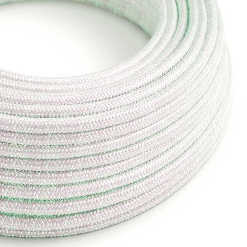 Cable Eléctrico Redondo recubierto en tejido efecto Seda, Glitter Unicorn RL00