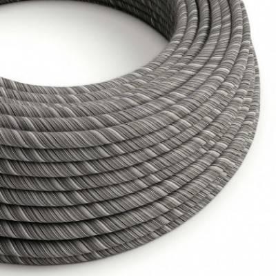 Cable Eléctrico redondo Vertigo recubierto en algodón Negro Mélange ERC37