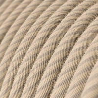 Cable Eléctrico redondo Vertigo recubierto en algodón y Lino Paja ERD20
