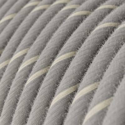Cable Eléctrico redondo Vertigo recubierto de Lino y Algodón Eggnog ERD22