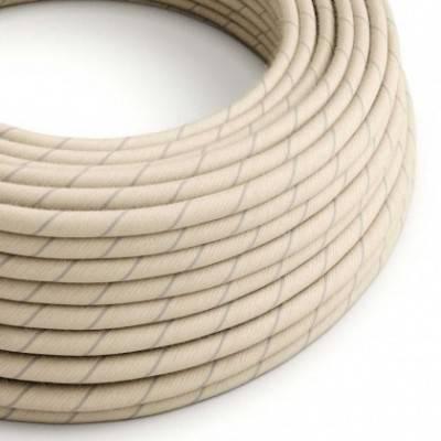 Cable Eléctrico redondo Vertigo recubierto en algodón y Lino Avena ERD23