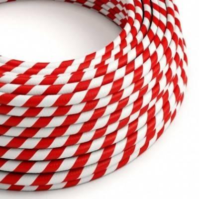 Cable Eléctrico redondo Vertigo HD recubierto en Textil Candy Cane ERM39
