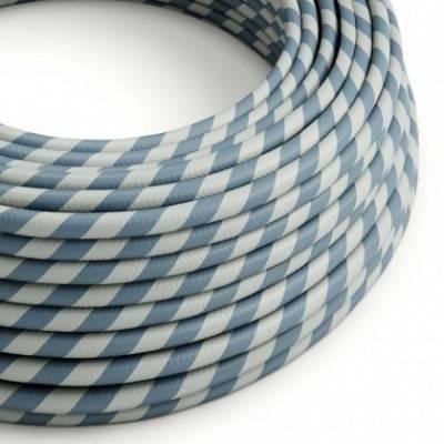 Cable Eléctrico redondo Vertigo HD recubierto en Textil Azul Claro y Avio ERM40