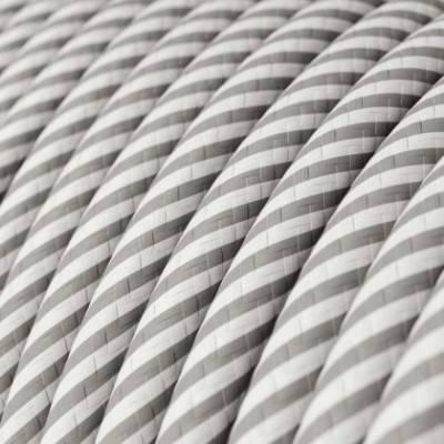 Cable Eléctrico redondo Vertigo HD recubierto en Textil Blanco y Aluminio ERM46