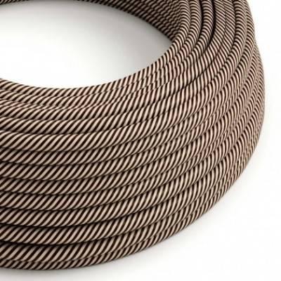 Cable Eléctrico redondo Vertigo HD recubierto en Textil Arena y Marrón Oscuro ERM51