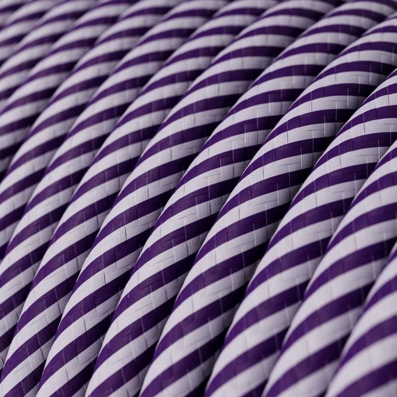 Cable Eléctrico redondo Vertigo HD recubierto en Textil Lila y Morado oscuro ERM52