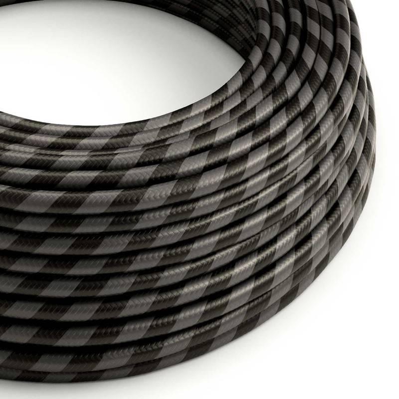 Cable Eléctrico redondo Vertigo HD recubierto en Textil Grafito y Negro ERM54