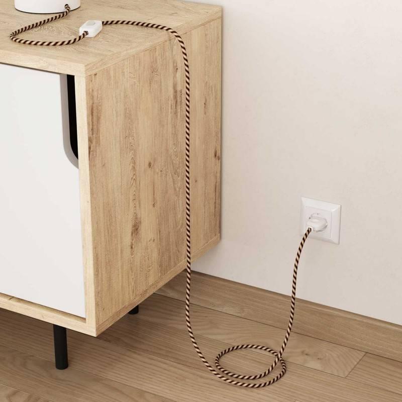Cable Eléctrico redondo Vertigo HD recubierto en Textil Mr Brown ERM61