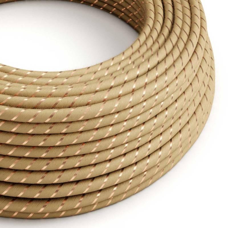 Cable Eléctrico redondo Vertigo recubierto en Yute con Hilo de Cobre ERR04