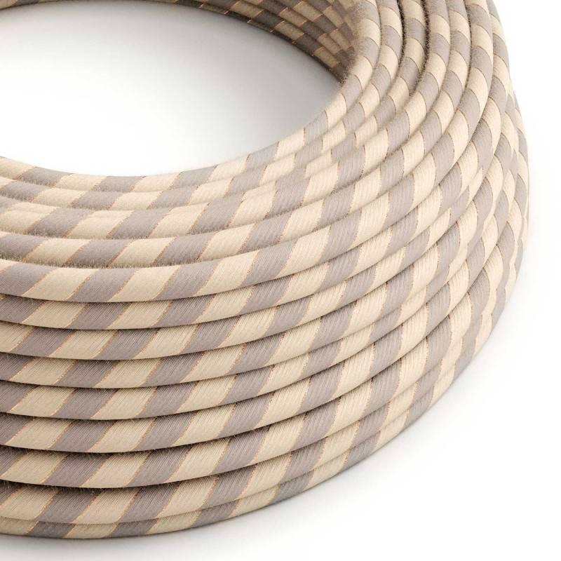 Cable Eléctrico redondo Vertigo recubierto en Algodón y Lino con Hilo de Cobre ERR05