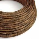 Cable Eléctrico redondo Vertigo HD recubierto en Textil Óptical Negro y Cobre ERM66