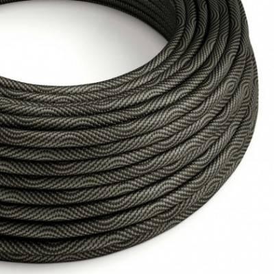 Cable Eléctrico redondo Vertigo HD recubierto en Textil Negro Óptical y Gris ERM67