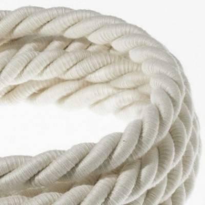 Cordón XL, cable eléctrico 3x0,75, recubierto en algodón en bruto. Diámetro: 16mm.