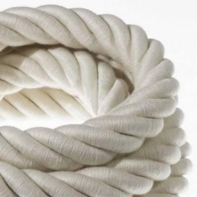 Cordón 3XL, cable eléctrico 3x0,75, recubierto en algodón en bruto. Diámetro: 30mm.