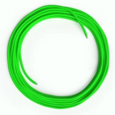 Cable Lan Ethernet Cat 5e sin conectores RJ45 - RF06 Efecto Seda Verde Fluo