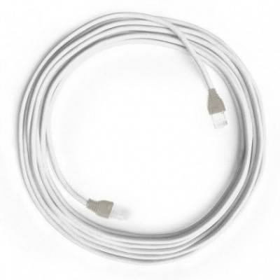 Cable Lan Ethernet Cat 5e con conectores RJ45 - RC01 Algodón Blanco