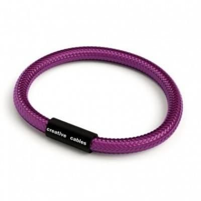 Pulsera con cierre magnético negro mate y cable RM35