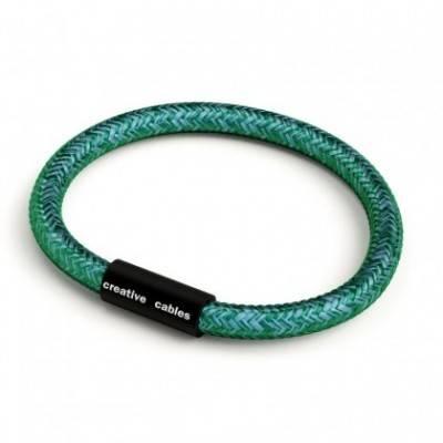 Pulsera con cierre magnético negro mate y cable RM33