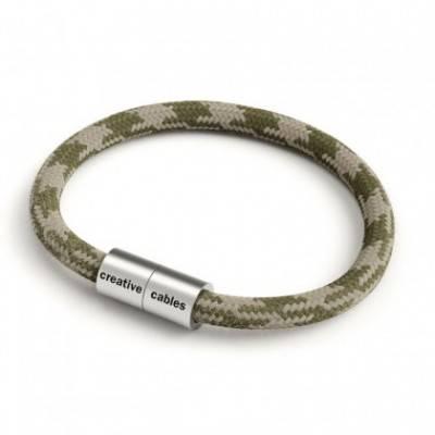 Pulsera con cierre magnético de plata mate y cable RP30