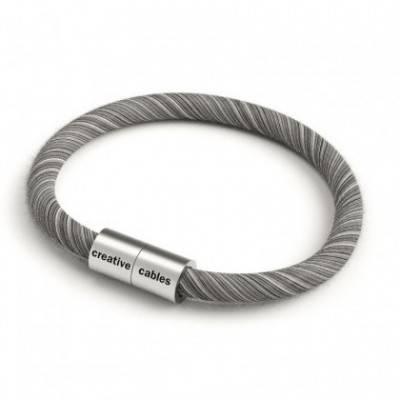 Pulsera con cierre magnético de plata mate y cable ERC37