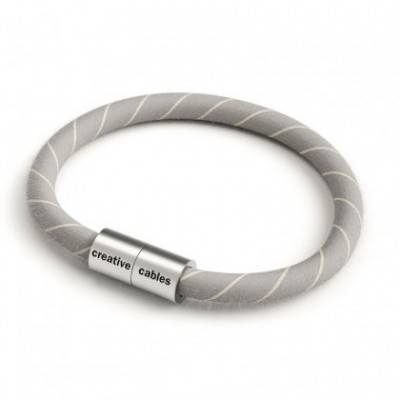 Pulsera con cierre magnético de plata mate y cable ERD22