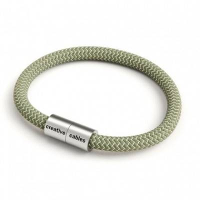 Pulsera con cierre magnético de plata mate y cable RD72