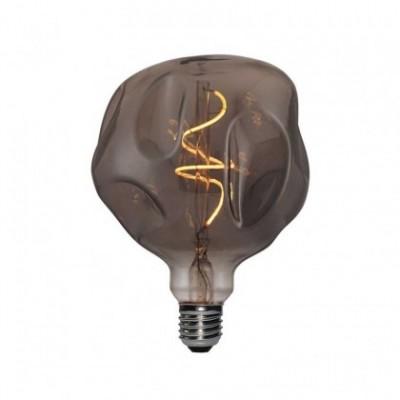 Bombilla LED Smoky Bumped Globo 125 filamento Curvado Espiral 5W E27 regulable 2000K