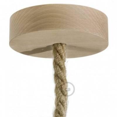 Kit rosetón de madera para cable XL