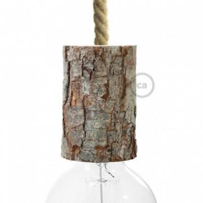 """Kit portalámparas """"Corteza de árbol"""" pequeño E27"""