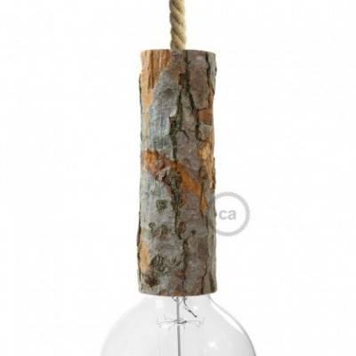 """Kit portalámparas """"Corteza de árbol"""" grande E27"""