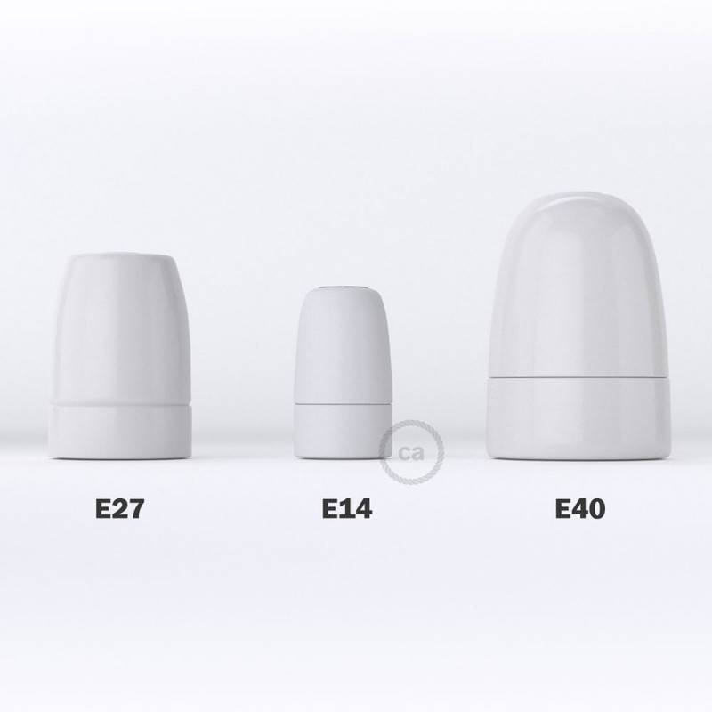 Kit portalámparas de porcelana E14