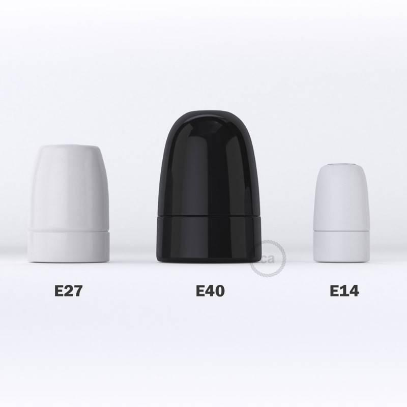 Kit portalámparas de porcelana E40